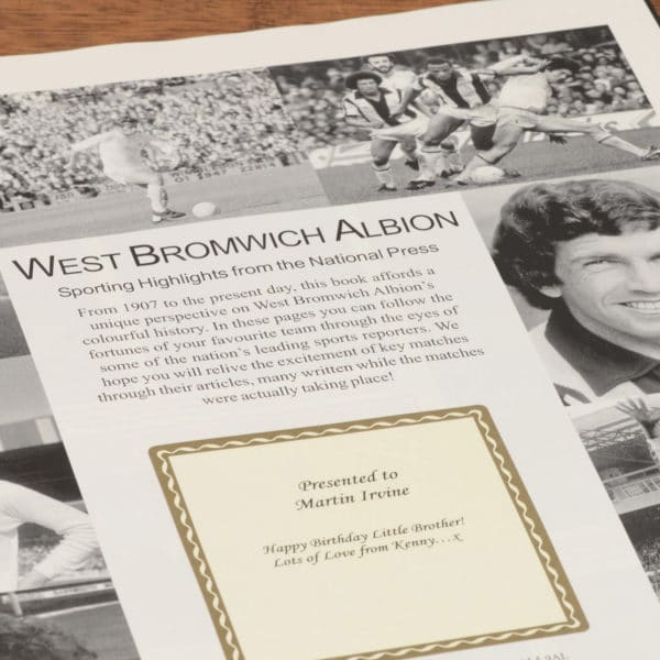 west bromwich albion football book