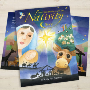 Little Donkey Nativity Story Book
