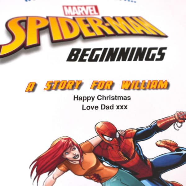 personalised spider-man beginnings book
