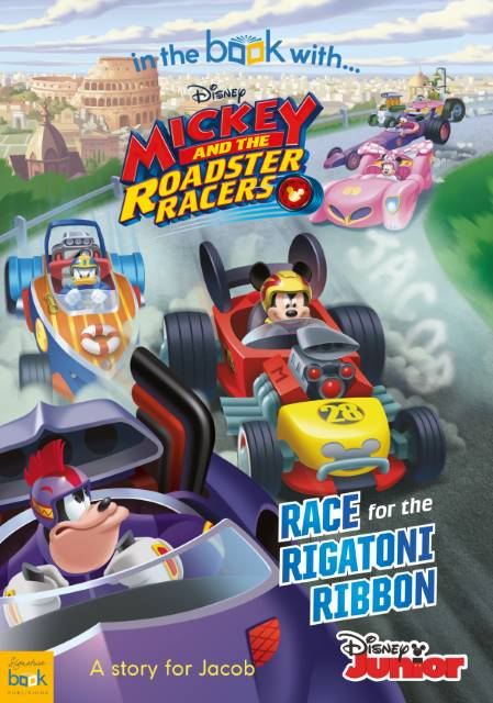 personalised mickey roadster racers book