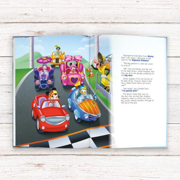 personalised mickey Disney Roadster Racers book