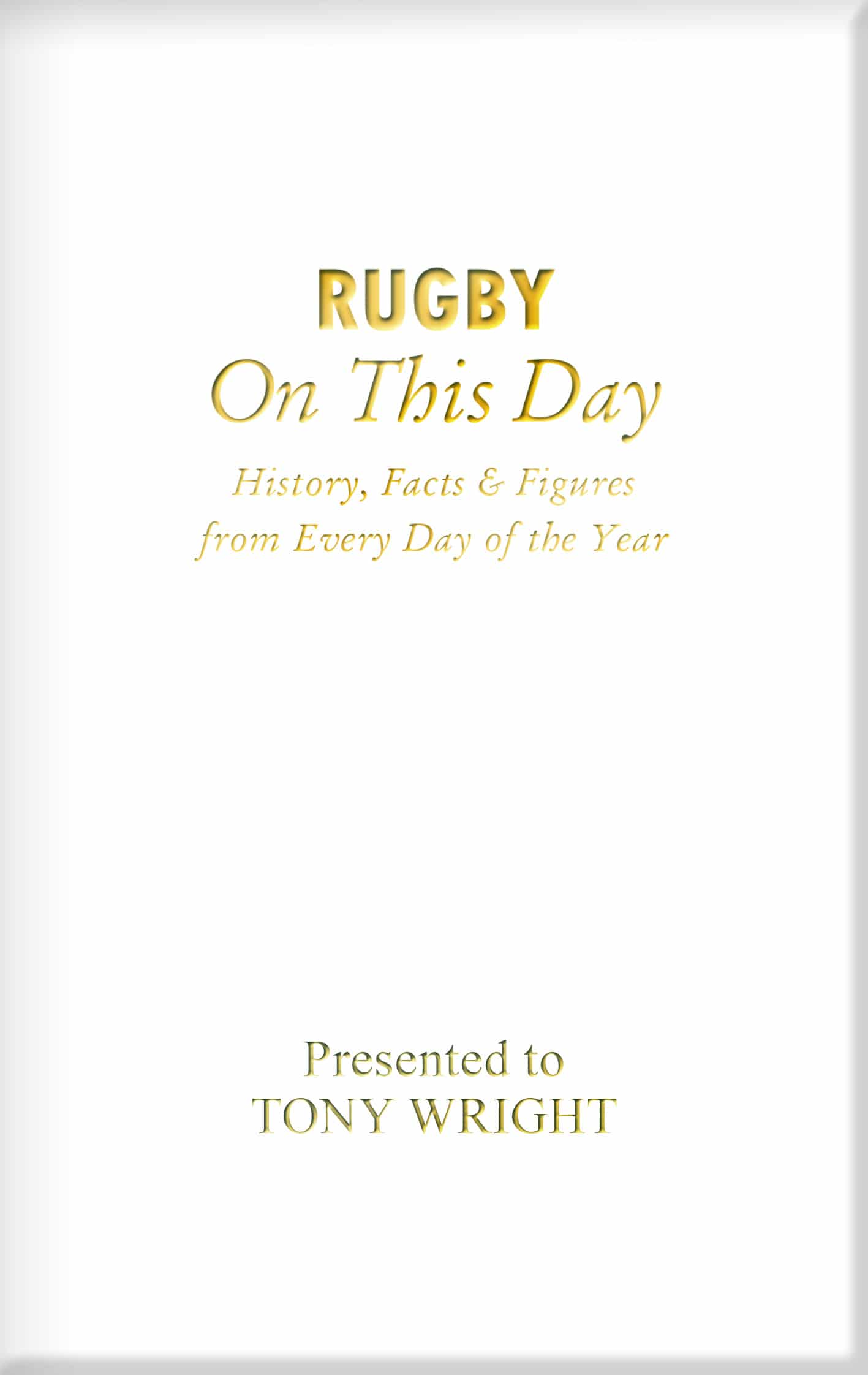 rugby book