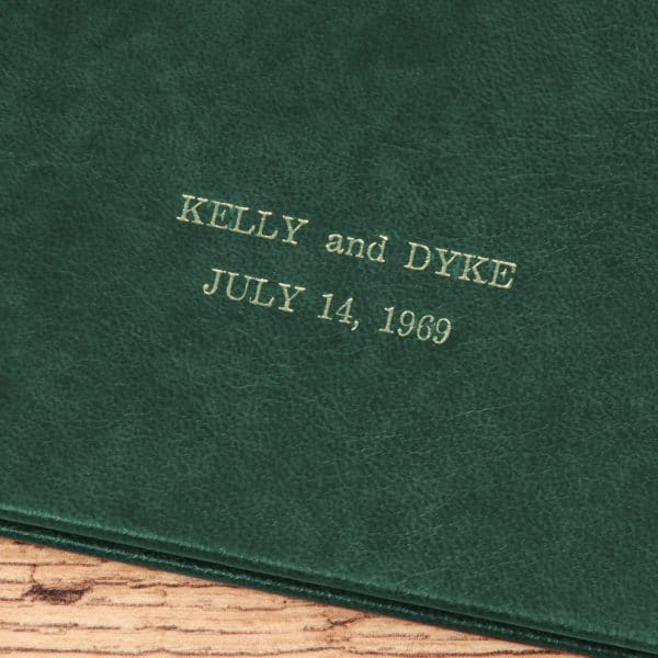 Close up Embossing on special date book