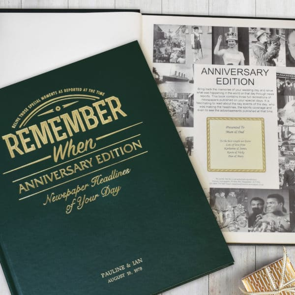 personalised anniversary book