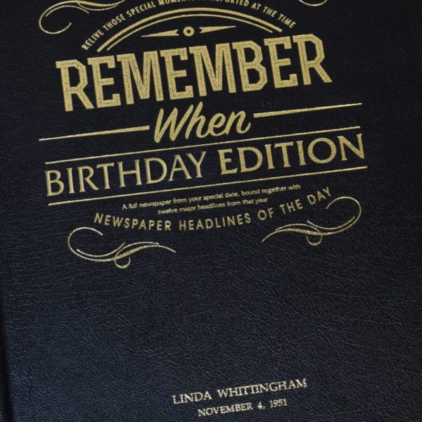 special date birthday book