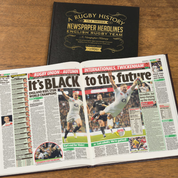 England Rugby Newspaper history book