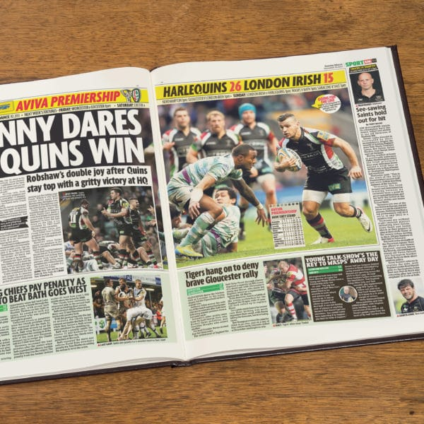 Harlequins Rugby Newspaper history book