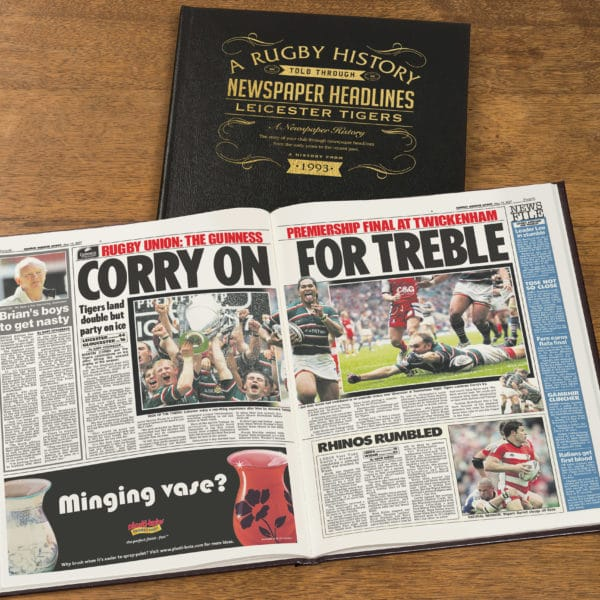 Leicester Rugby Newspaper history book