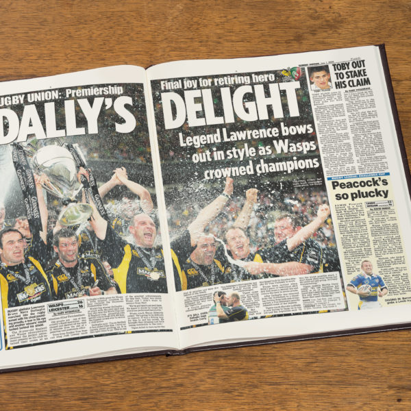 London Wasps Rugby Newspaper history book