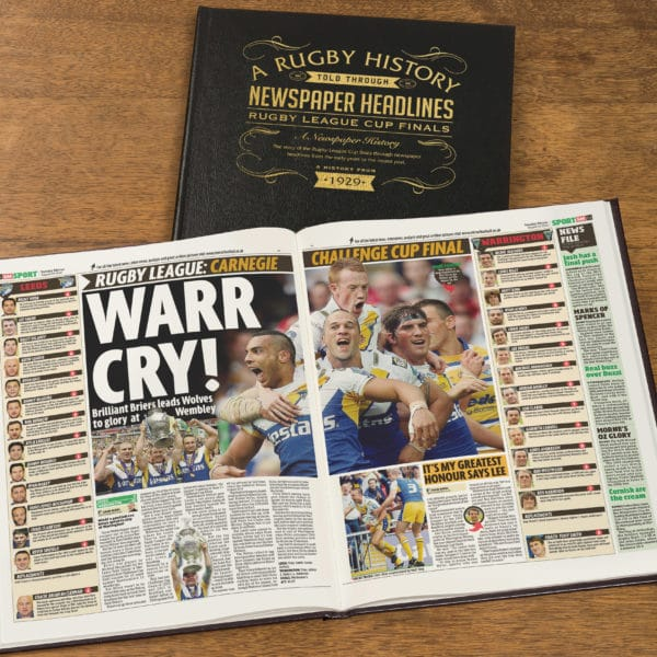 League Cup Rugby Newspaper history book