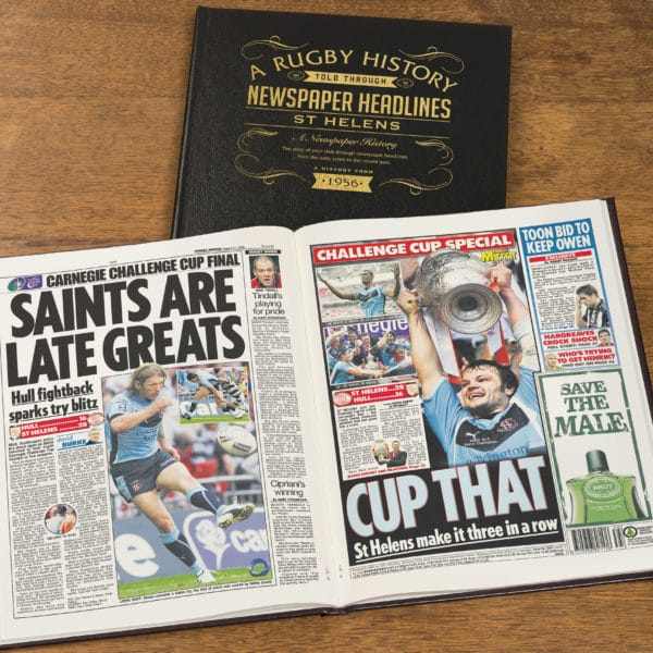 St Helens Rugby Newspaper history book