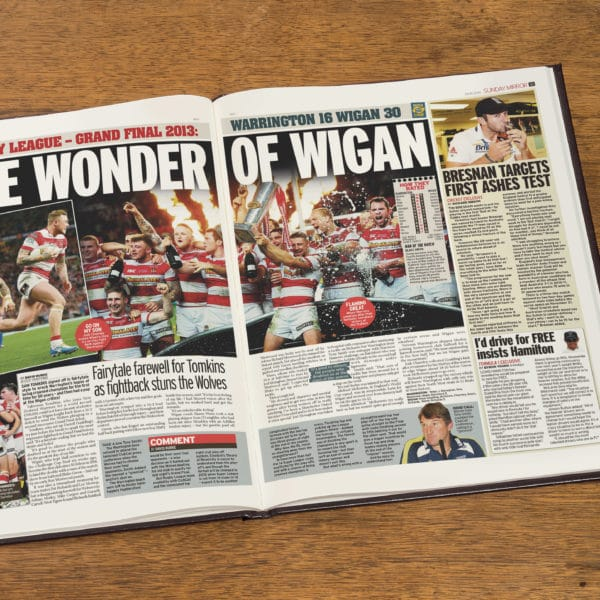 Wigan Rugby Newspaper history book