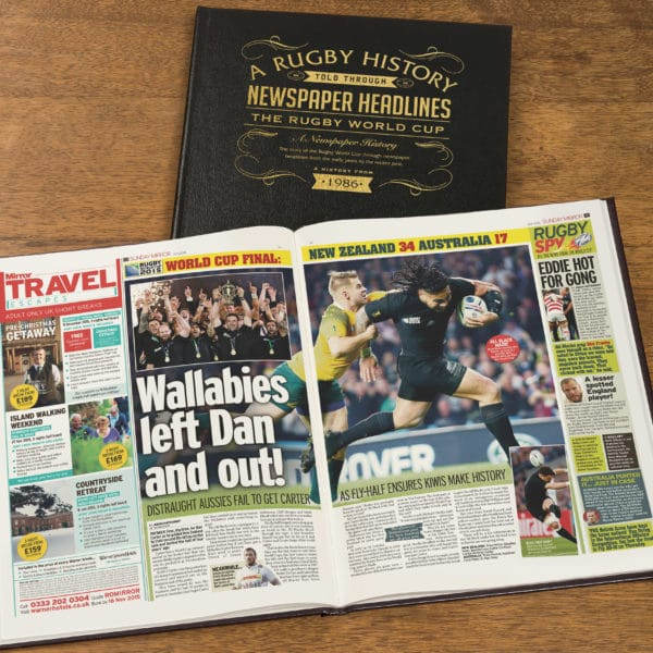 World Cup Rugby Newspaper history book