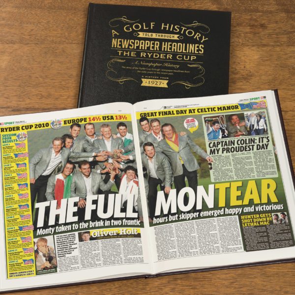 Ryder Cup Golf Newspaper history book