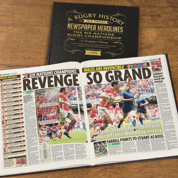Six Nations Rugby Newspaper history book