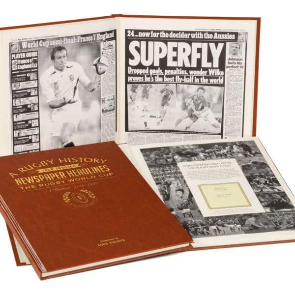 Rugby World cup history book