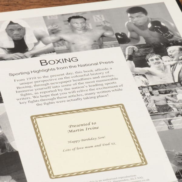 History of boxing book