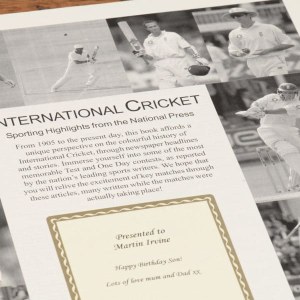 History of International Cricket