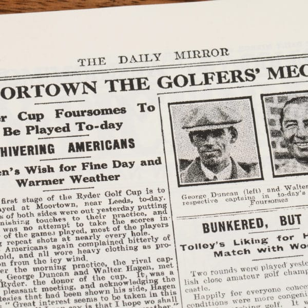 Ryder Cup history of golf