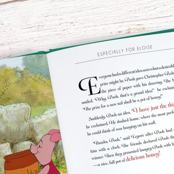 Personalised Winnie the Pooh Disney Book