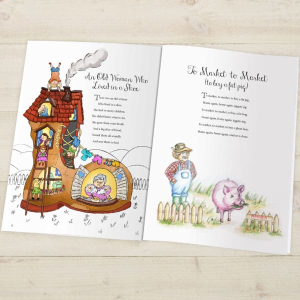 Traditional nursery rhyme book