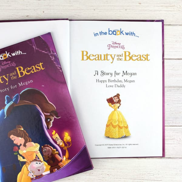personalised beauty and the beast Disney book