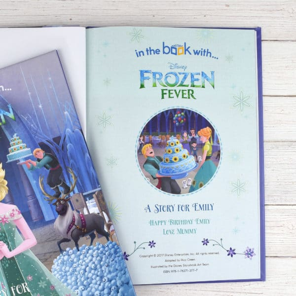 personalised frozen fever book