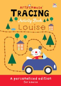 personalised tracing activity book