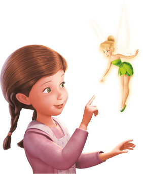 tinkerbell and child