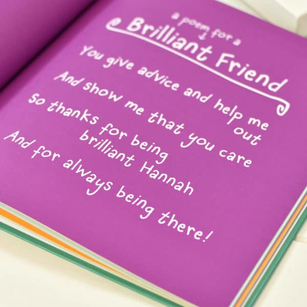 Purple Ronnie Friend Poem Book