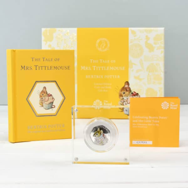 mrs tittlemouse book and coin set