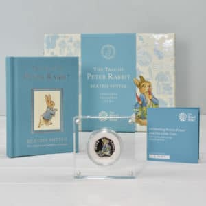 Petter Rabbit Coin and book set