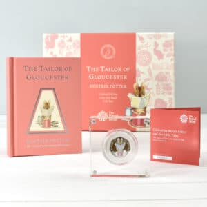 tailor of gloucester book and coin set