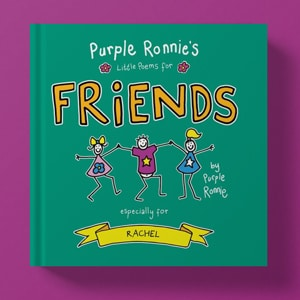 Personalised Purple Ronnie Books of Poems
