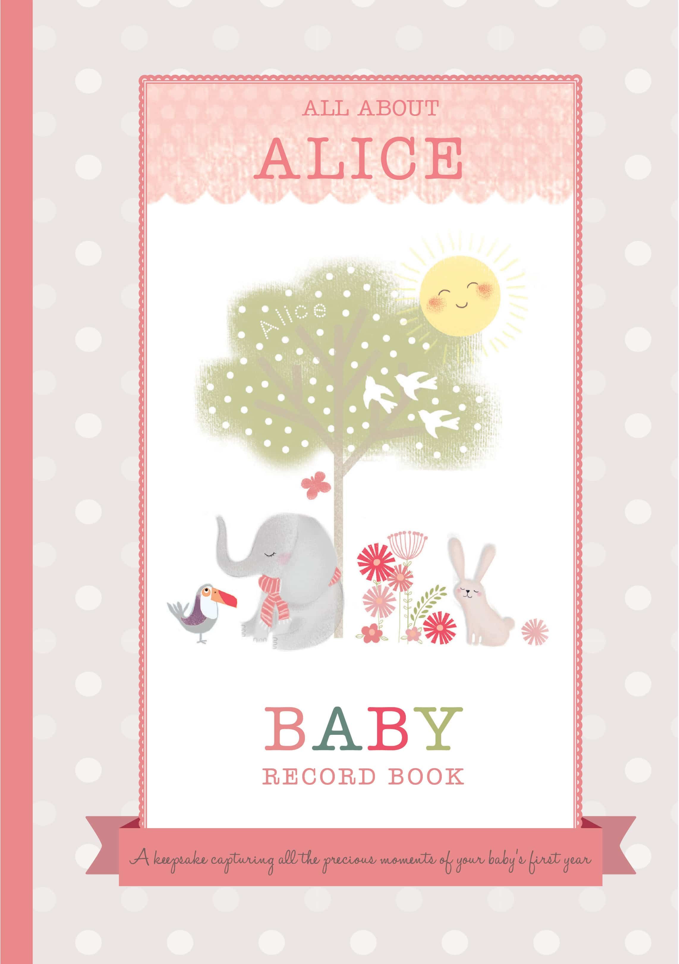 baby record book cover image