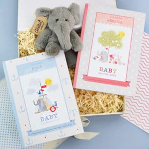 Personalised Baby Record Book Plush Toy