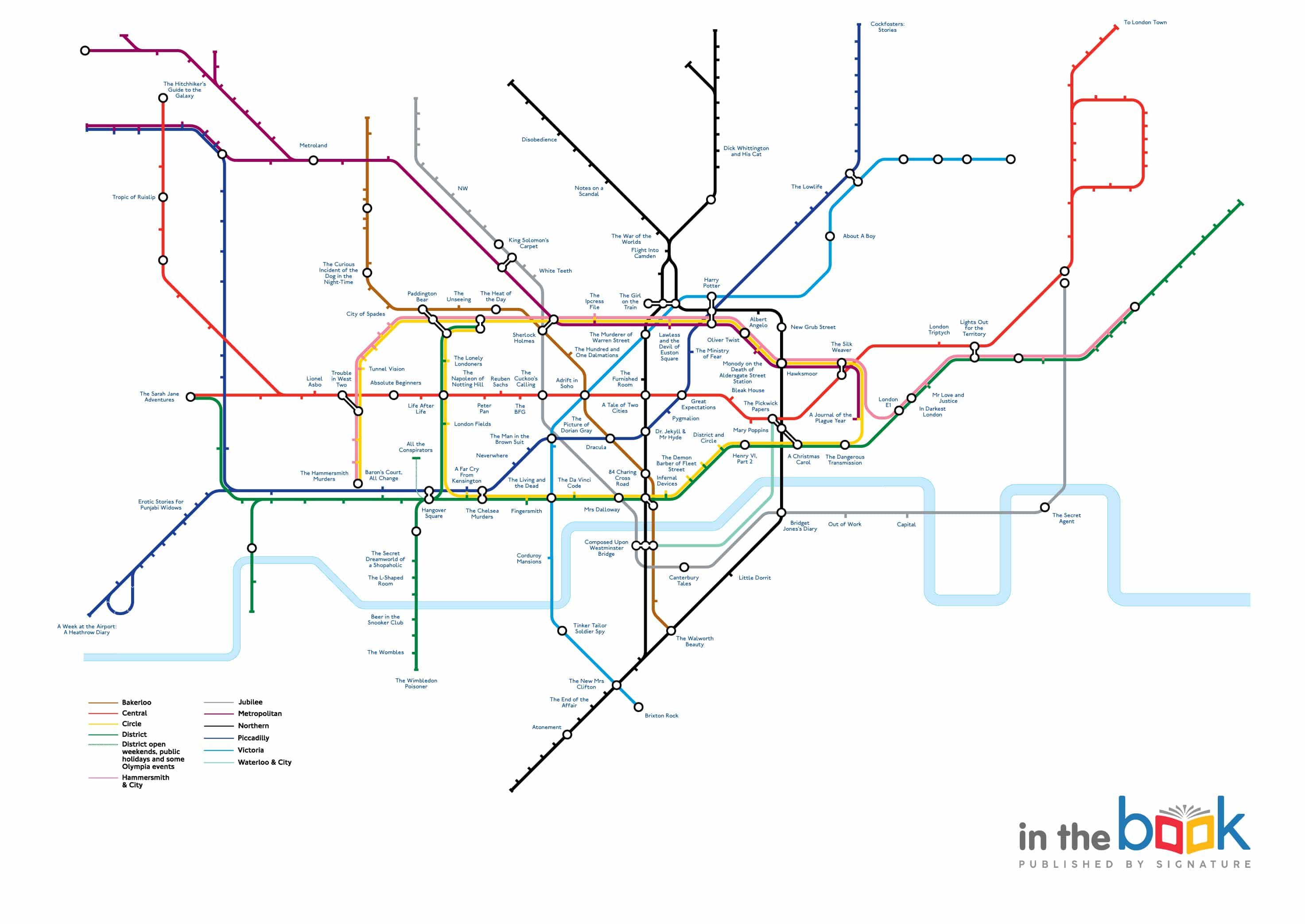 Literary Tube Map