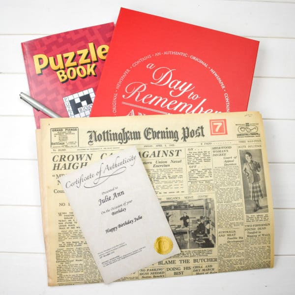Puzzle book and original paper gift set