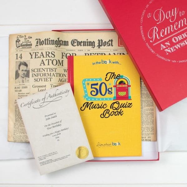 Music of the 50s Quiz book set
