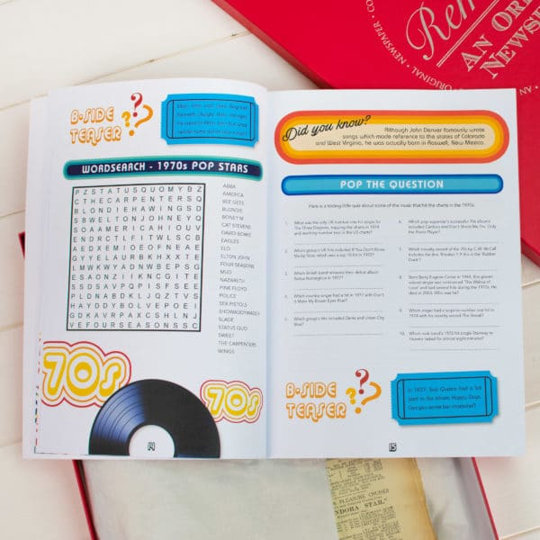 Music of the 70s Quiz book set