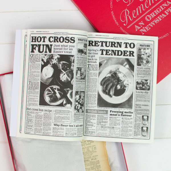 Recipe book and Newspaper gift set