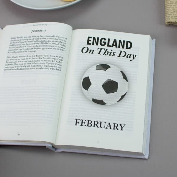 England On this Day Football Facts Book
