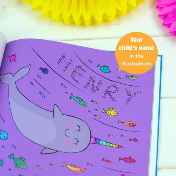 personalised narwhal book