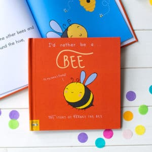 "Personalised ""I'd Rather Be A Bee"" Book"