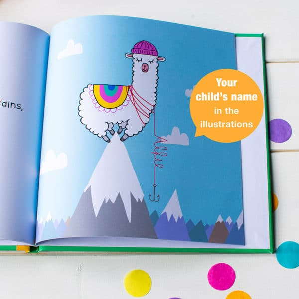 """Personalised """"I'd Rather Be A Llama"""" Book"""