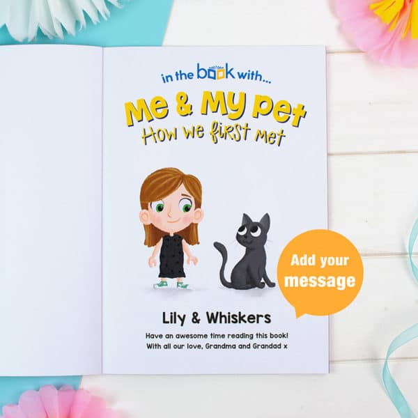 Me and My Pet Cat Personalised Book