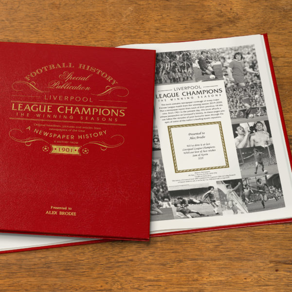 liverpool champions newspaper book