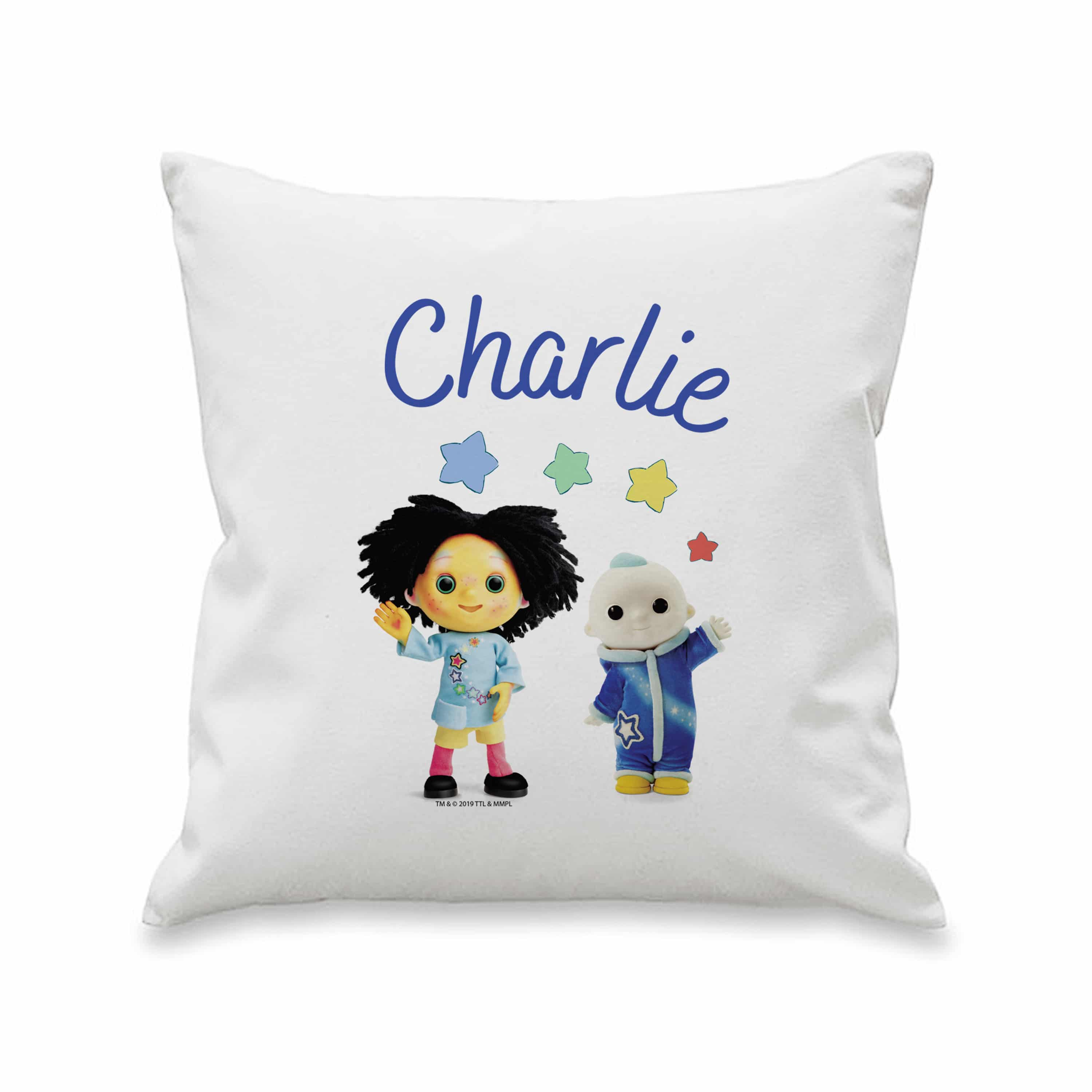personalised moon and me cushion