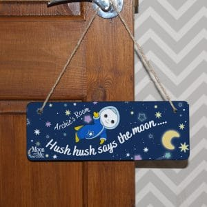 moon and me hanging sign
