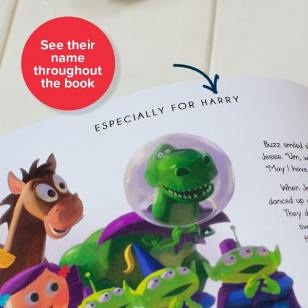 personalised toy story book